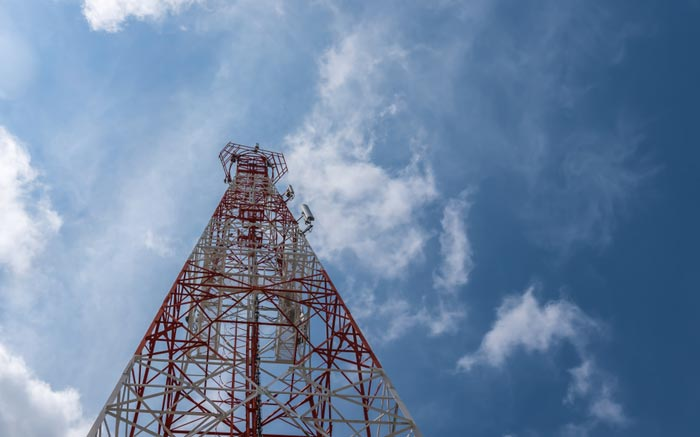 Think about broadcasting towers
