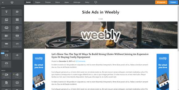 Can I install any page or site for a Weebly Website