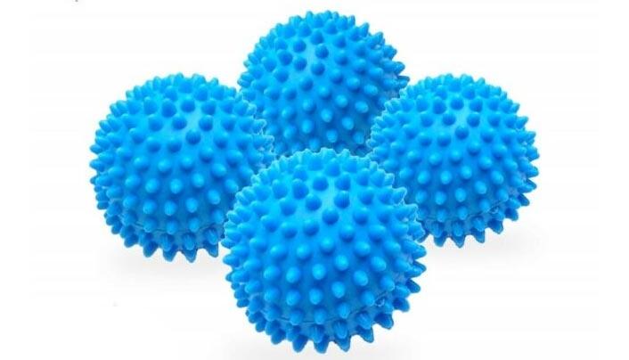 laundry balls inside the washing machine