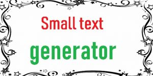 How to Type In Small Text