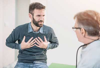 Shortness of breath, even after mild physical activity